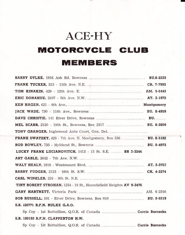 Ace Hy Members List A
